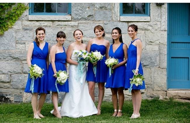 cobalt blue bridesmaids