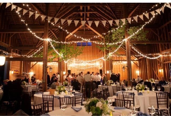 gorgeous barn wedding reception