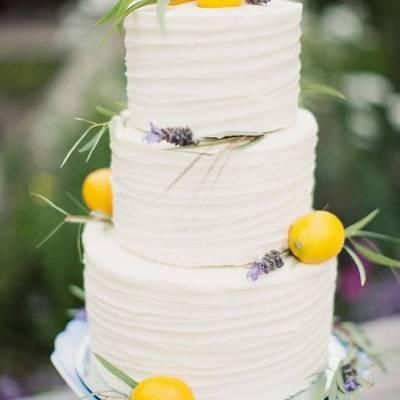 Citrus Inspired Wedding Cakes