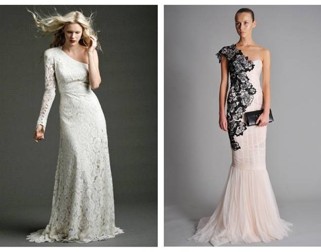 One Shoulder Wonders: Wedding Gowns With Asymmetrical Beauty