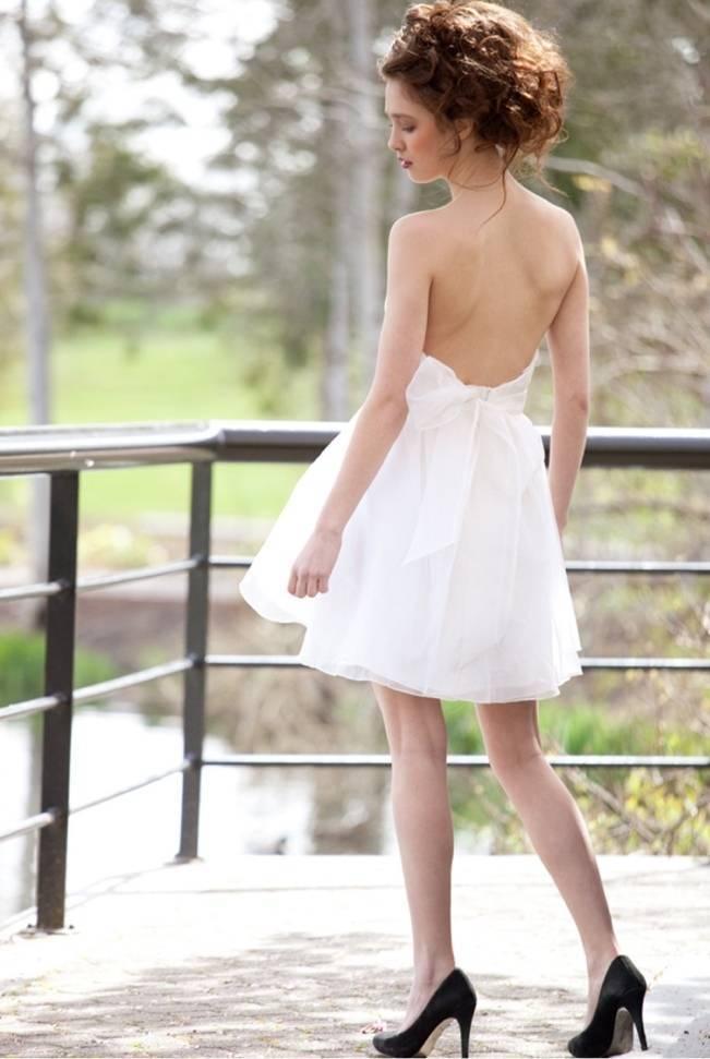 claire la faye short wedding dress