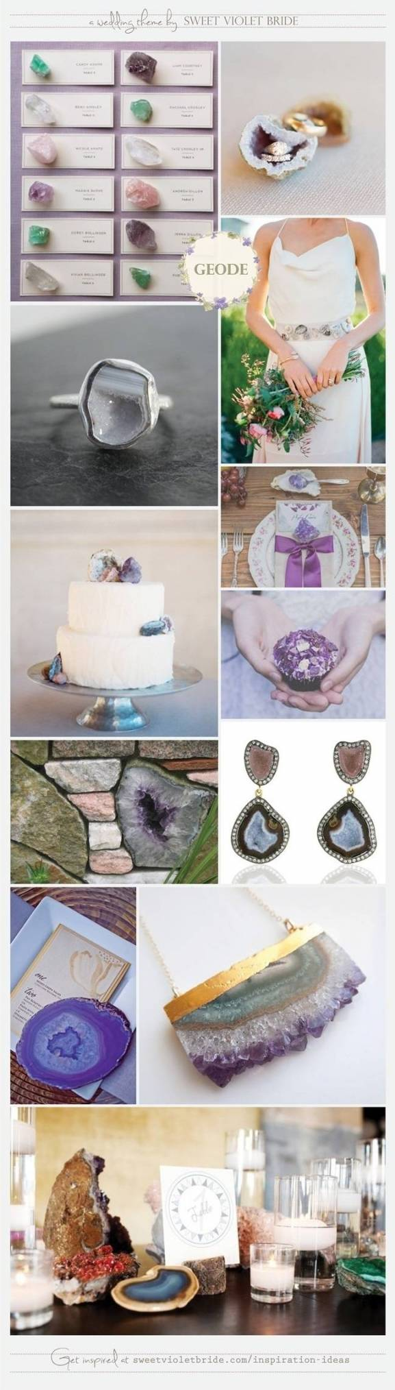 geode geologist themed wedding