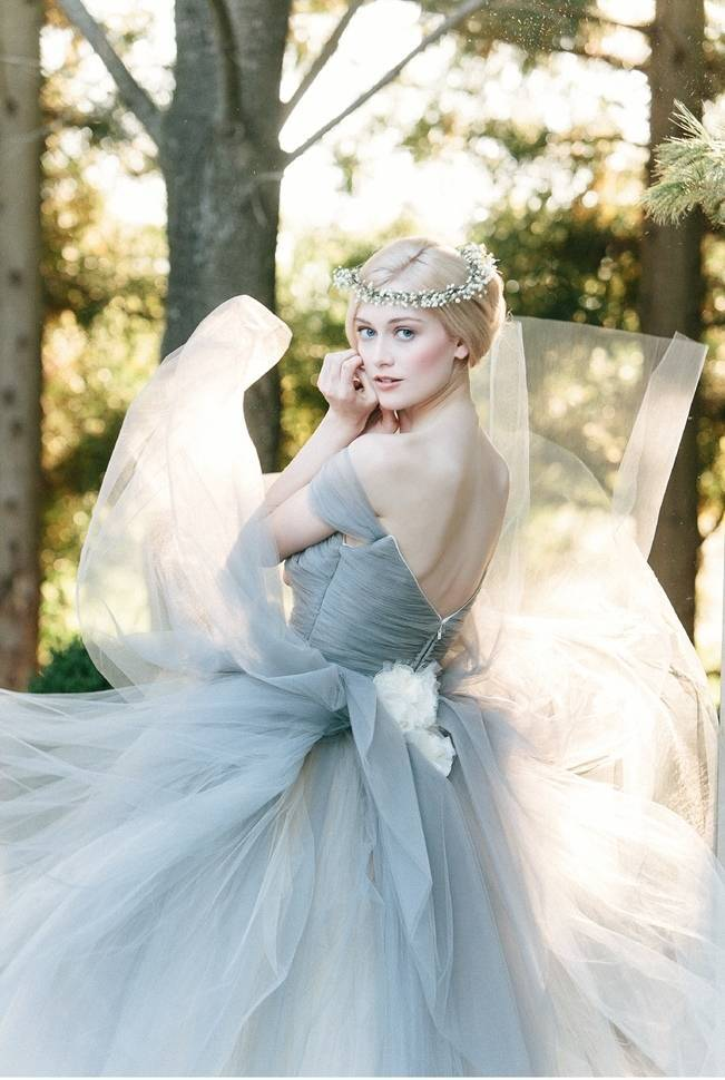 dusty blue fairytale wedding dress