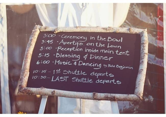 birch wedding chalkboard sign