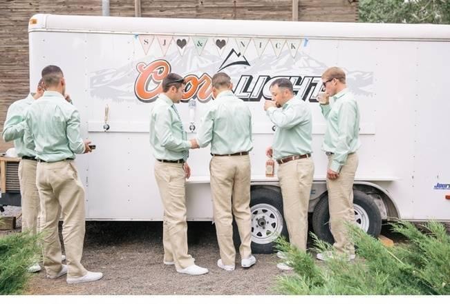beer truck for groomsmen