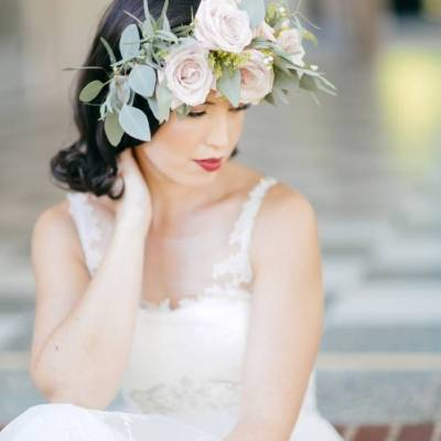 Vintage + Frida Kahlo Inspired Bridal Style {Anne Marie Photography}