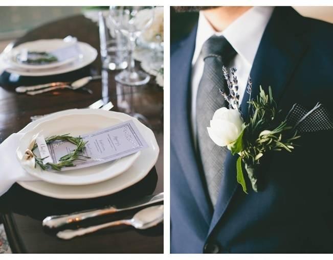 Lavender + Rosemary Winter Wedding Inspiration {Blue Jar Events + Jennifer Bakos Photography} 4