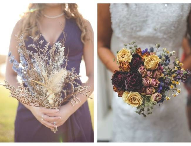 Rustic Dried Flower Wedding Bouquet Inspiration 8