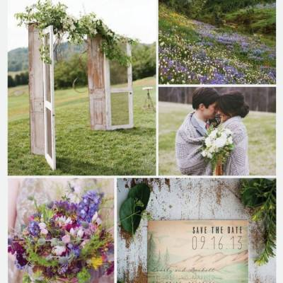 Wedding Inspiration Board #29: Alpine Meadow