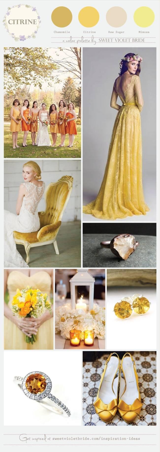 Citrine Wedding Palette_
