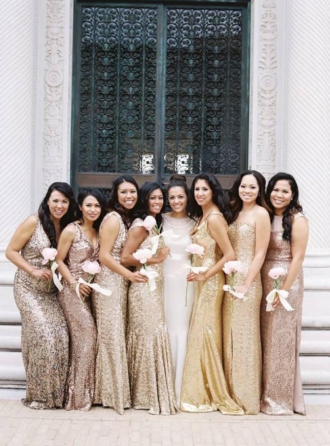 Gold Wedding Dress Inspiration 15