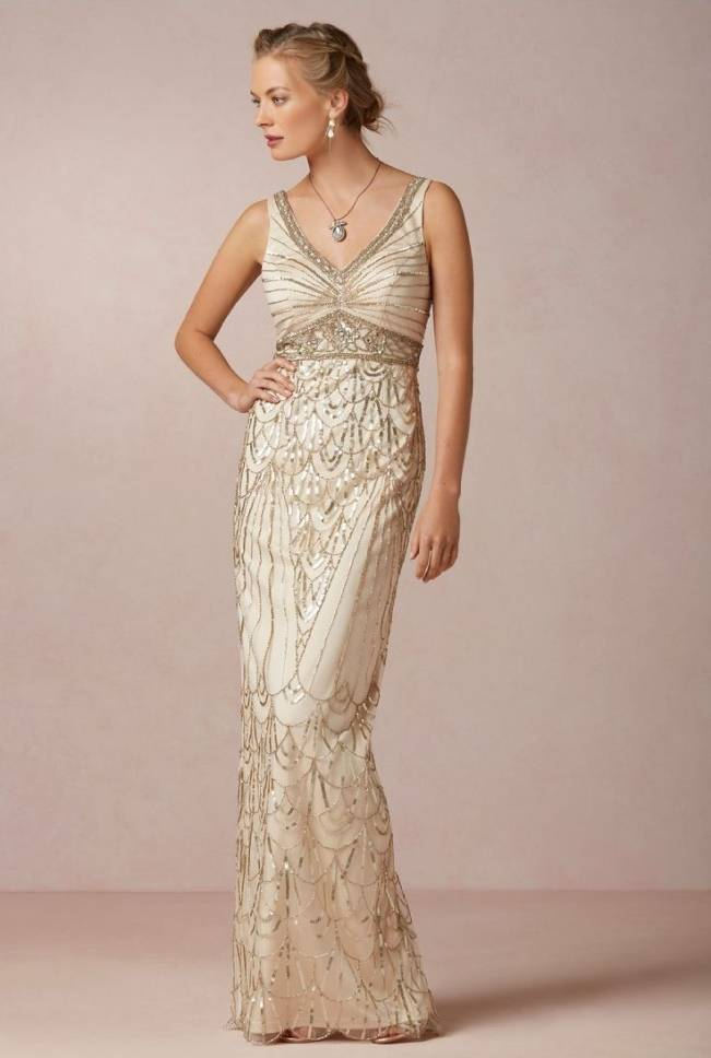 Gold Wedding Dress Inspiration 9