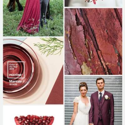Wedding Color Palette: Marsala {Pantone Color of 2015}