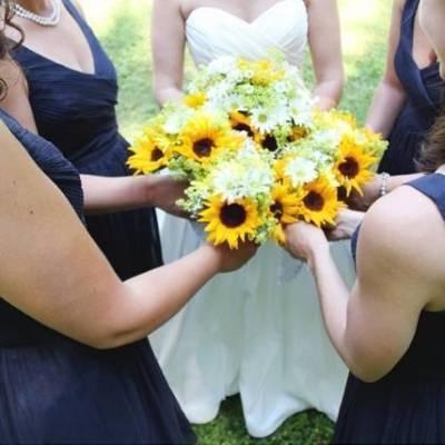 Rustic Vermont Sunflower Wedding {Floor Three Photography}
