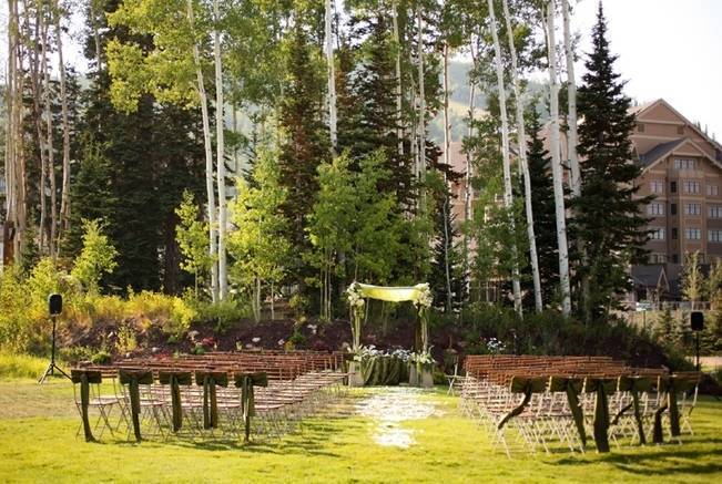 Green + Ivory Mountain Wedding at Deer Valley Resort  6