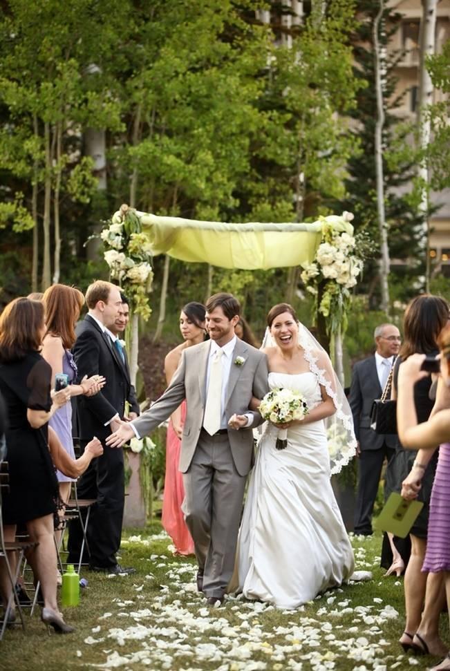 Green + Ivory Mountain Wedding at Deer Valley Resort 8