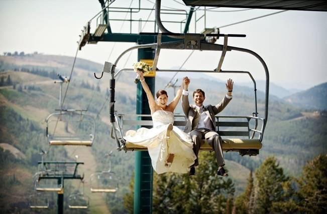 Green + Ivory Mountain Wedding at Deer Valley Resort 9