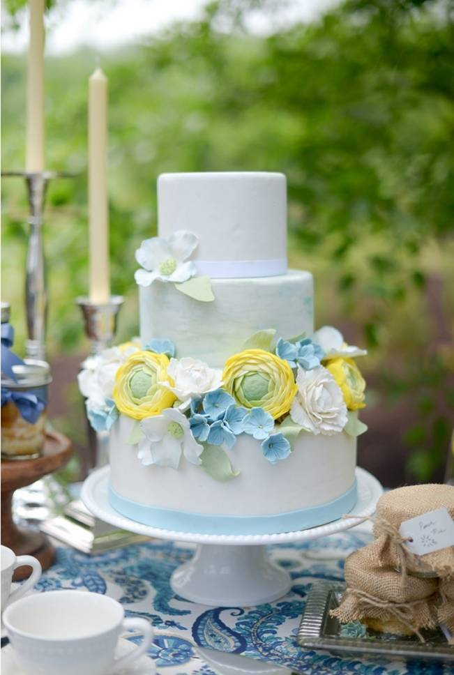 Blue + Yellow Country Chic Bridal Inspiration {Dani Fine Photography} 18