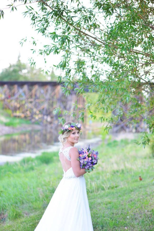 Road to Paradise Rustic Purple Bridal Look {Silver Nest Photography} 3