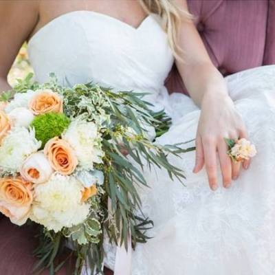 Peach Garden Wedding Inspiration {Shelly Taylor Photography}