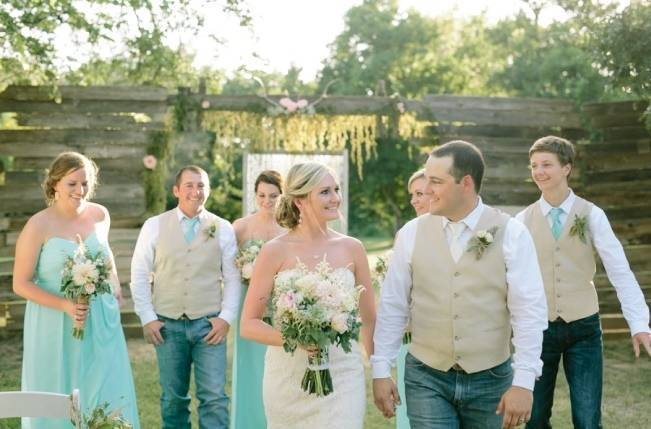 Light Blue Country Wedding with Rustic and DIY Details 12