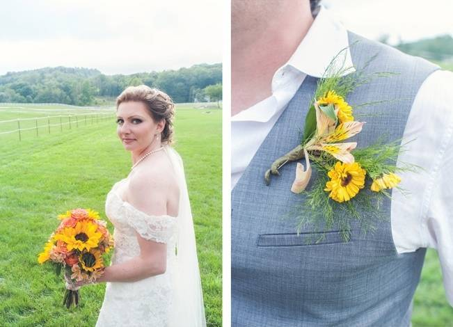 Rustic Pennsylvania Sunflower Wedding at Friedman Farms 6