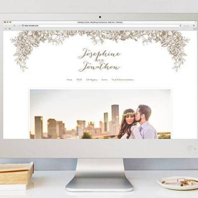 Introducing Minted Wedding Websites (plus 15% off sale!)