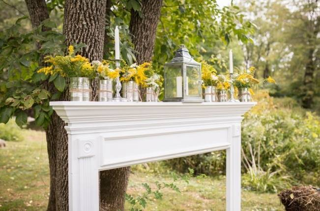 Rustic Outdoor Yellow and Grey Wedding {Idalia Photography} 16