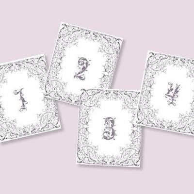 Fairytale Table Numbers: Free Wedding Printable