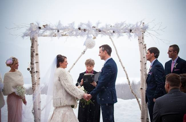 Snowy Winter Wedding in Vermont {Kathleen Landwehrle Photography} 14