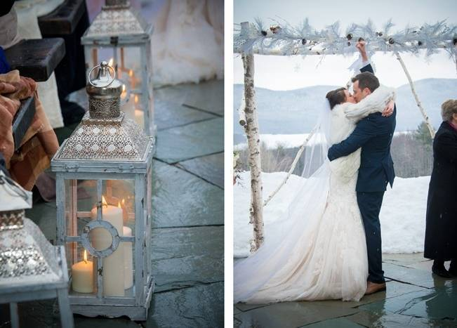 Snowy Winter Wedding in Vermont {Kathleen Landwehrle Photography} 15