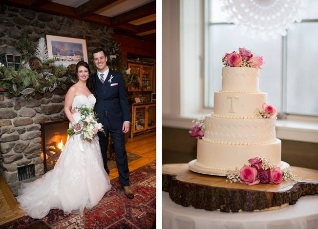 Snowy Winter Wedding in Vermont {Kathleen Landwehrle Photography} 23