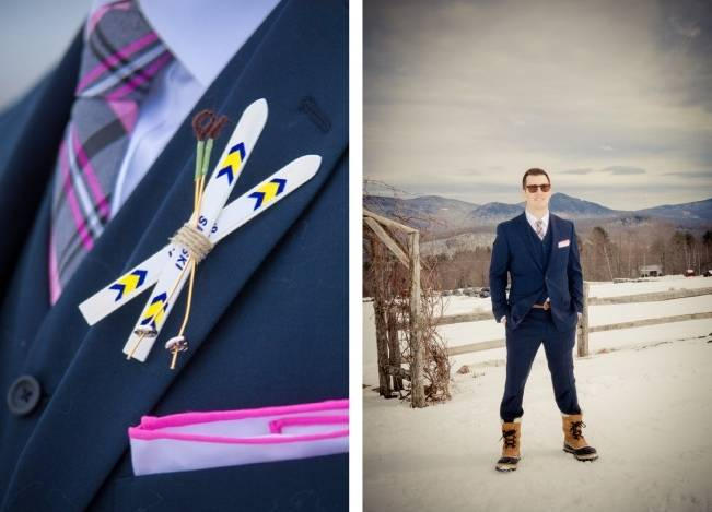 Snowy Winter Wedding in Vermont {Kathleen Landwehrle Photography} 4