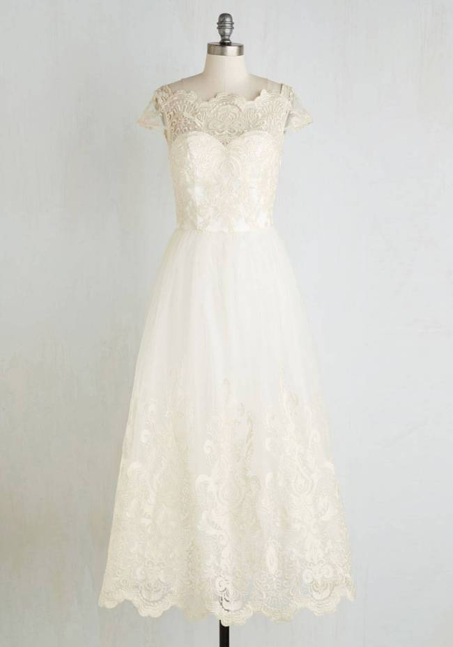 Sparkling Celebration Dress in Ivory ModCloth $169.99