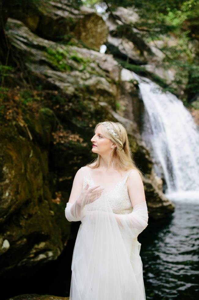 Styled Vermont Waterfall Elopement 11