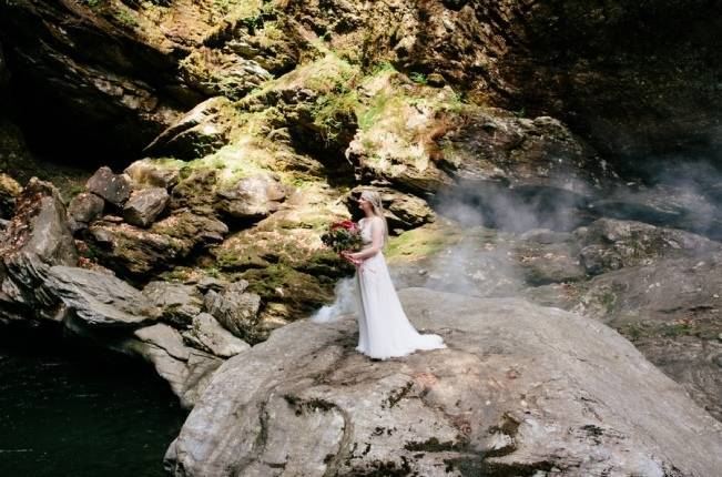 Styled Vermont Waterfall Elopement 3