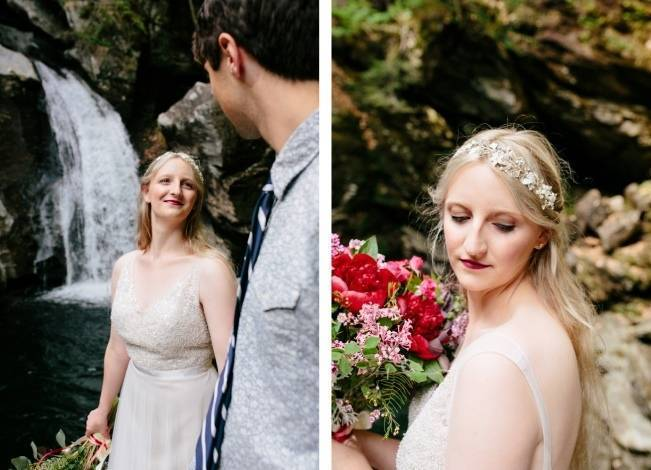 Styled Vermont Waterfall Elopement 4