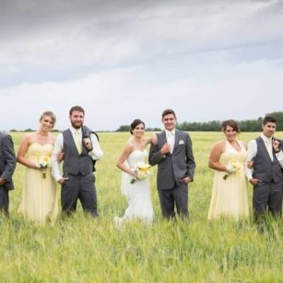 Yellow and Grey Prairie Wedding in Alberta, Canada