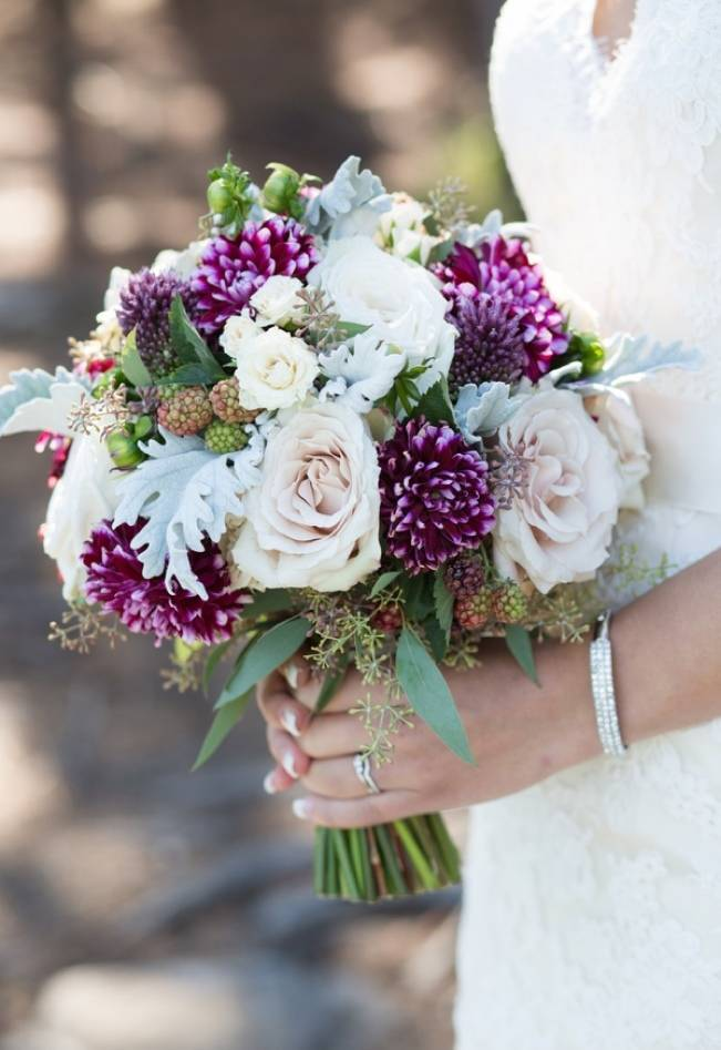Plum & Nude Rustic Mountain Wedding - Melanie Bennett Photography 5