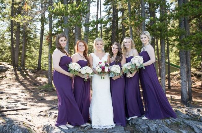 Plum & Nude Rustic Mountain Wedding - Melanie Bennett Photography 9