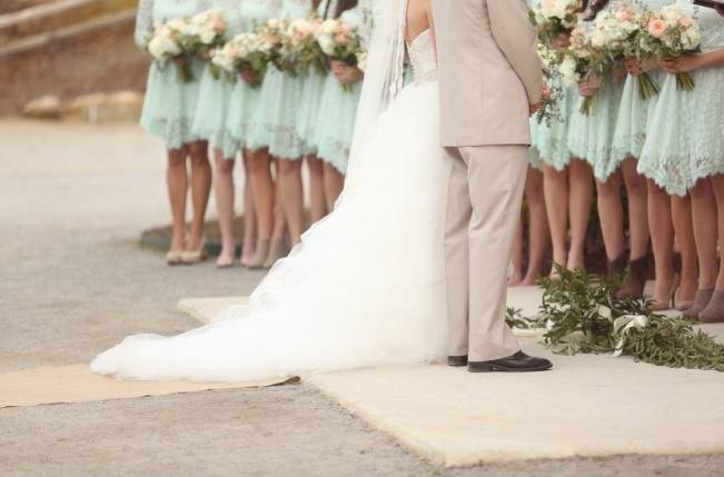 Rustic Mint + Taupe Alabama Barn Wedding 12