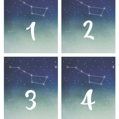 Free Wedding Printable: Constellation Table Numbers