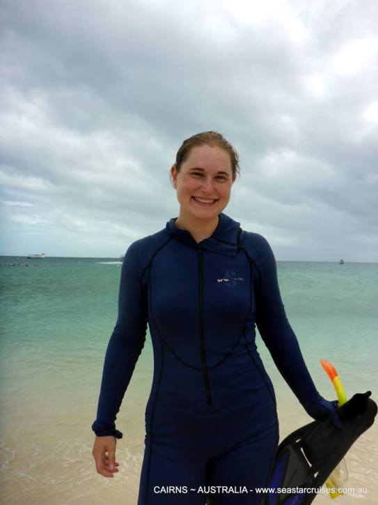 About to snorkel the Great Barrier Reef!