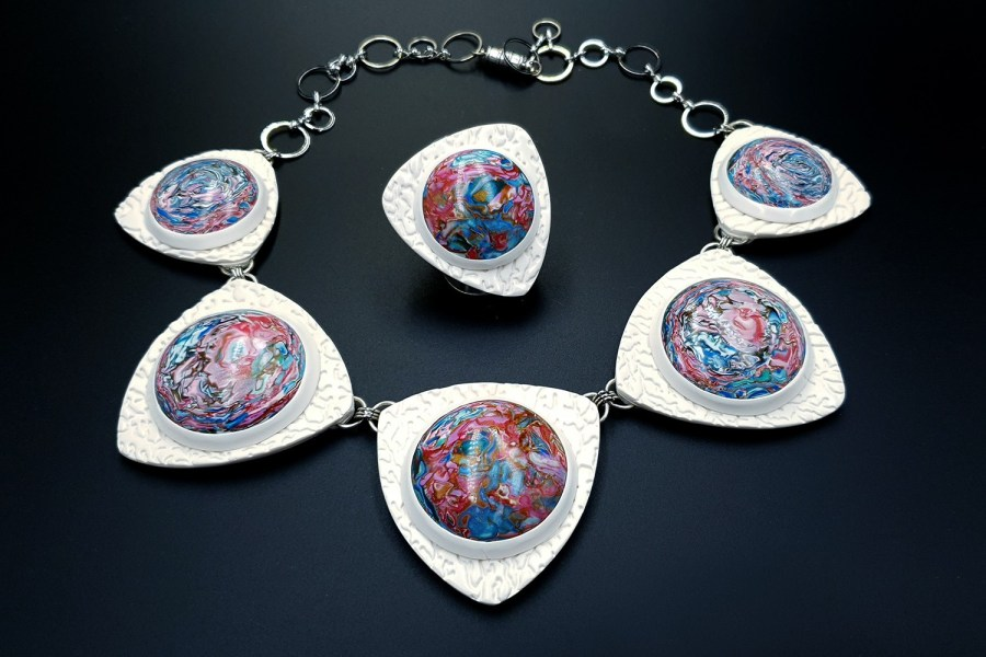 Earth in the porthole Jewelry set 03