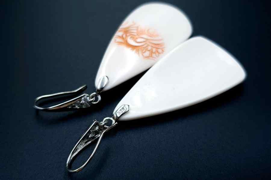 Peach Lace Earrings 04