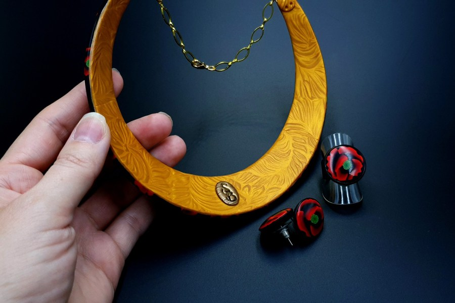 Poppies Field Jewelry Set 06