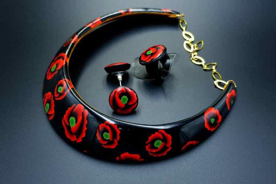 Poppies Field Jewelry Set 10