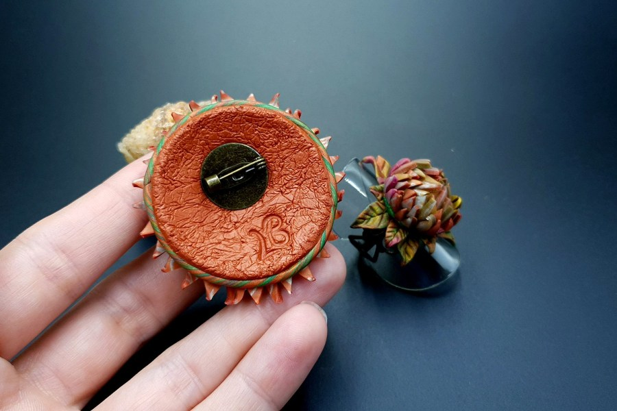 Prickly flower Jewelry Set 02