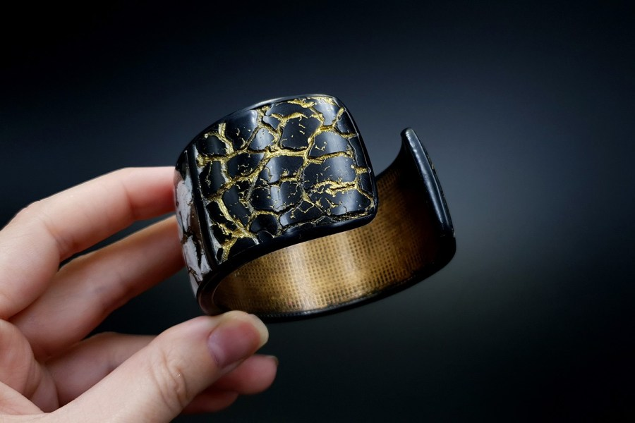Product Cracked Marble Bracelet Cuff 07