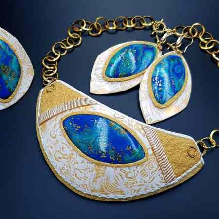 """Windows Into the Ocean"" Jewelry Set"